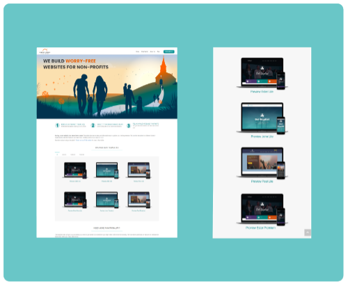 Page full of website templates